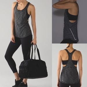 Lululemon On Track Tank Heathered Black
